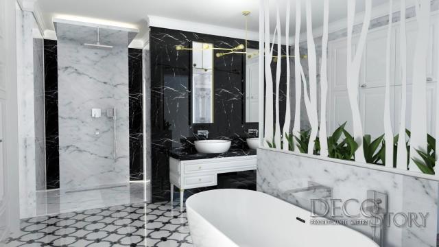 Klasyczna łazienka w marmurze