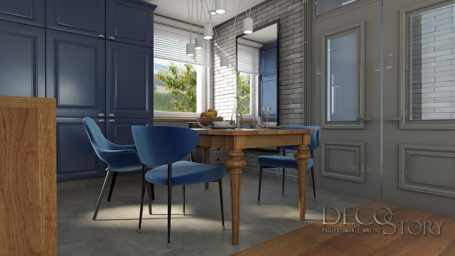 salon z kuchnią otwartą styl skandynawski