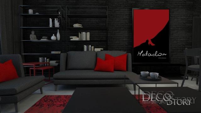 Czarno czerwony salon 1a